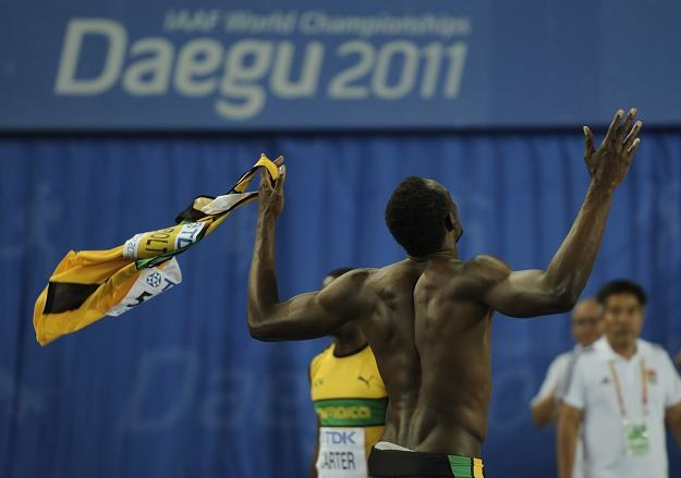 Usain Bolt popełnił falstart i został wykluczony z rywalizacji o medale MŚ /AFP