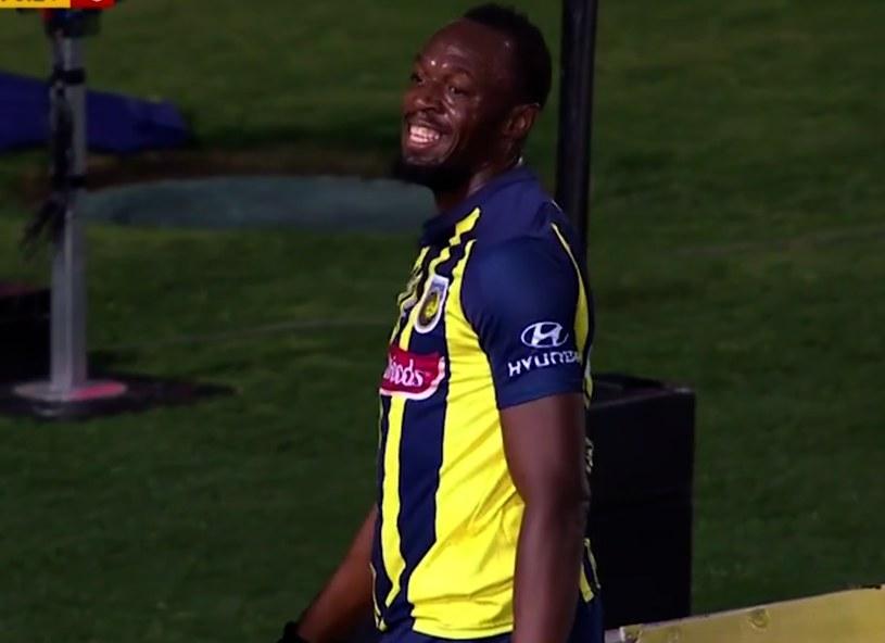 Usain Bolt w debiucie w barwach Central Coast Mariners. /INTERIA.PL