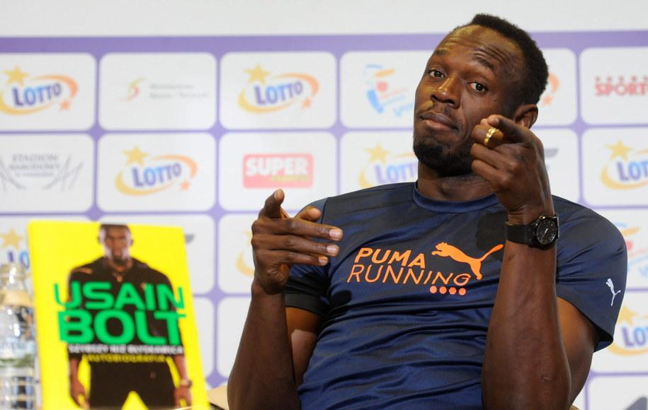 Usain Bolt w Warszawie /Bartłomiej Zborowski /PAP