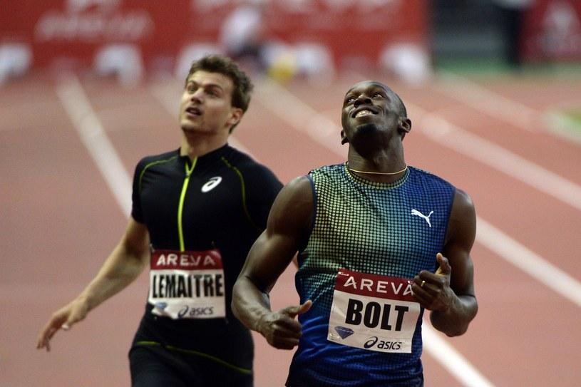 Usain Bolt (z prawej) /AFP