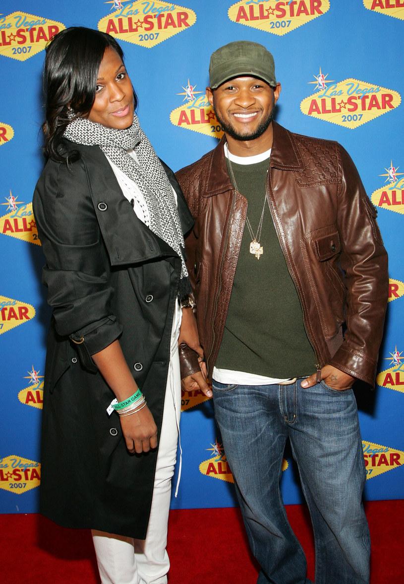 Usher z byłą żoną Tameką Foster /Ethan Miller /Getty Images