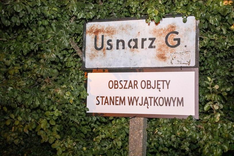 Usnarz Górny. Stan wyjątkowy na granicy z Białorusią /Jakub Kamiński   /East News