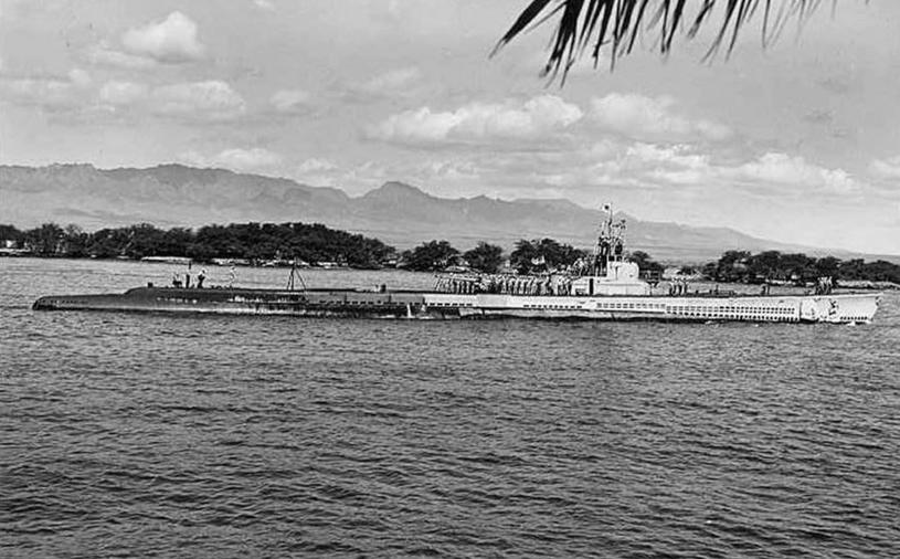 """USS """"Tambor"""", tego samego typu okrętem był USS """"Grenadier"""" /US NAVY /domena publiczna"""