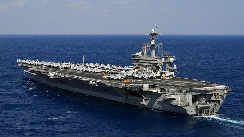 "USS ""Theodor Roosevelt"" na morzu /US NAVY /domena publiczna"