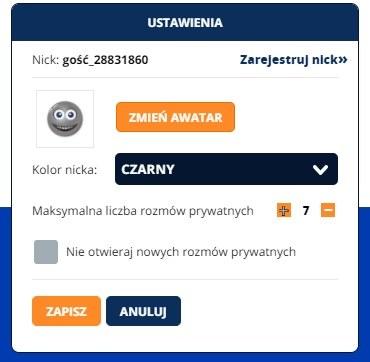 ustawienia nicka /INTERIA.PL