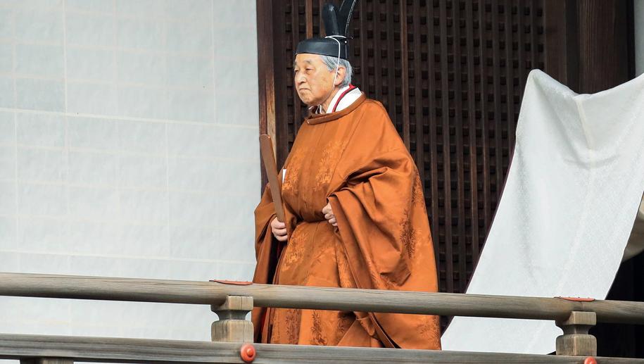 Ustępujący cesarz Akihito /JIJI PRESS /PAP/EPA