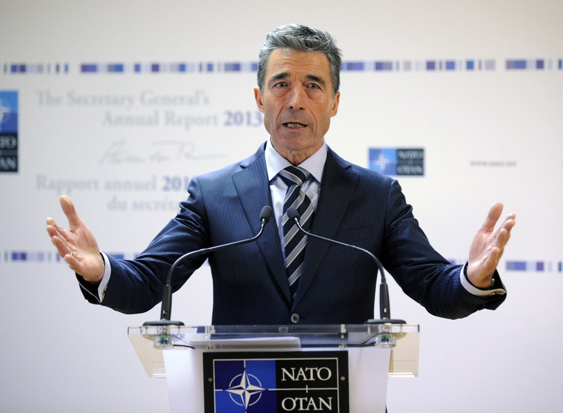 Ustępujący sekretarz generalny NATO Anders Fogh Rasmussen. /AFP
