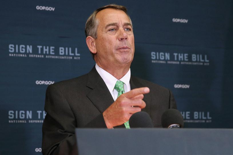Ustępujący spiker Izby Reprezentantów John Boehner /AFP