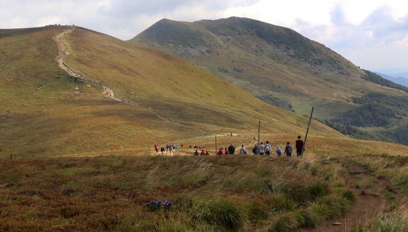 Ustrzyki Górne, podejście czerwonym szlakiem na Tarnicę /Mariusz Grzelak/REPORTER /East News
