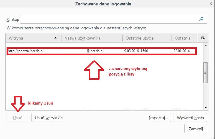 usuwanie hasla /INTERIA.PL