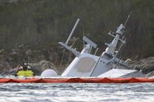 Uszkodzona norweska fregata zatonęła