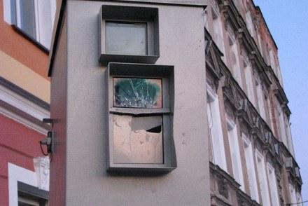 Uszkodzona puszka fotoradaru /Policja