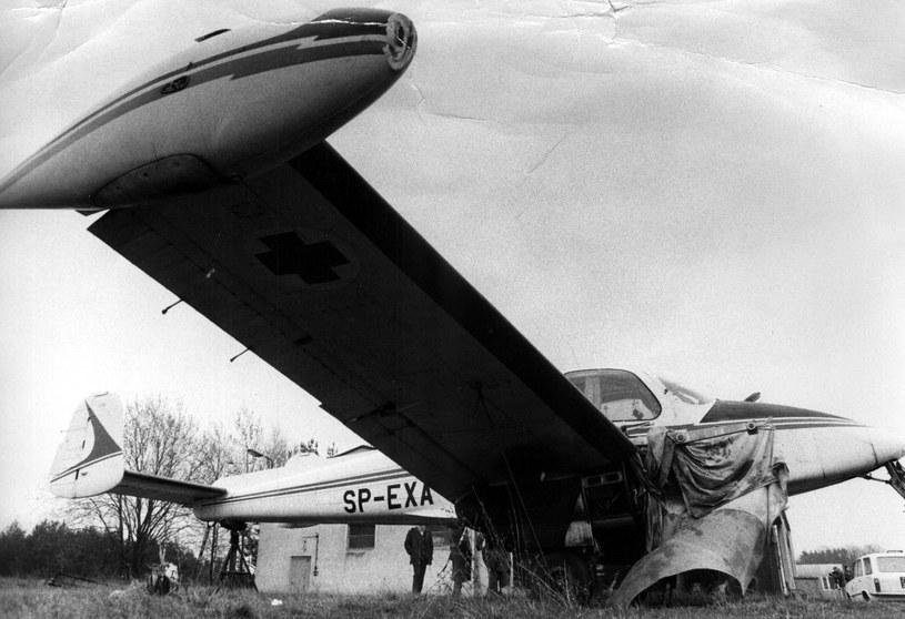 Uszkodzona w wyniku próby porwania w 1982 roku Morava z ZLS Zielona Góra /Muzeum Ratownictwa w Krakowie