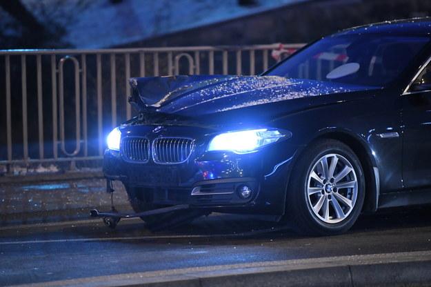 Uszkodzone BMW /Radek Pietruszka /PAP