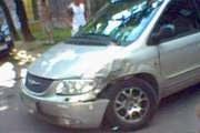 Uszkodzony Chrysler /INTERIA.PL