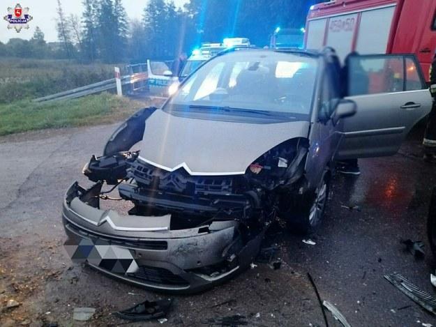 Uszkodzony citroen /Lubelska Policja /Policja