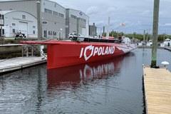 """Uszkodzony jacht """"I love Poland"""""""