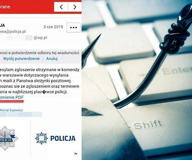 Uwaga na fałszywe maile od policjantów