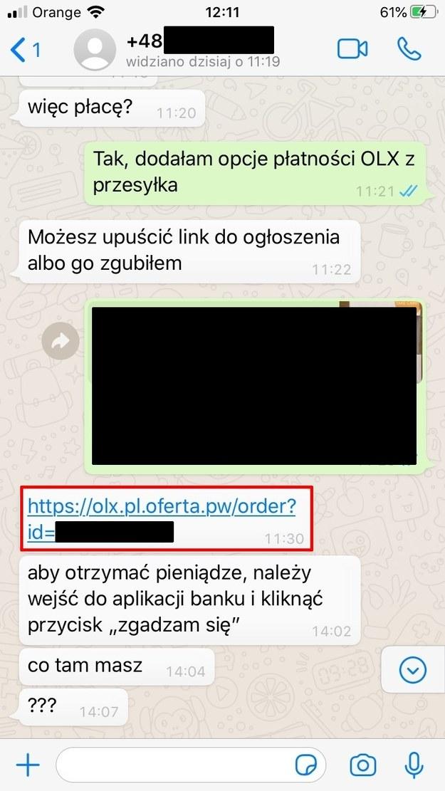Uważajmy na podejrzane linki / blog.olx.pl /