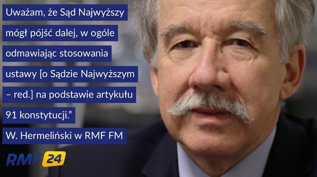 """""""Uważam, że Sąd Najwyższy mógł pójść dalej"""". /RMF FM /RMF FM"""