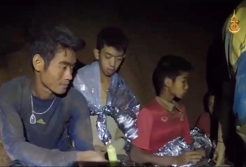 Uwięzieni w jaskini chłopcy /ROYAL THAI NAVY /PAP/EPA