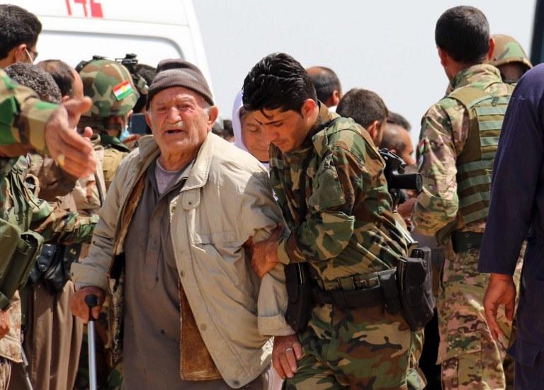 Uwolnieni jazydzi /MARWAN IBRAHIM /AFP