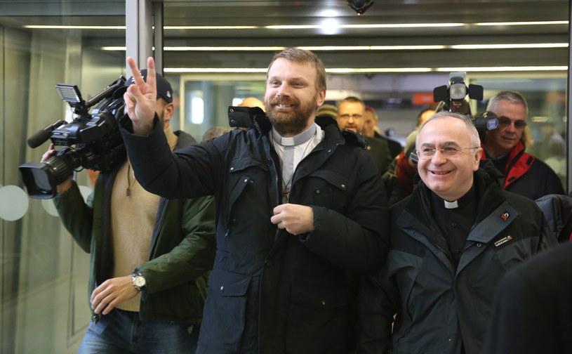 Uwolniony w RŚA polski misjonarz powrócił do kraju /Tomasz Gze /PAP