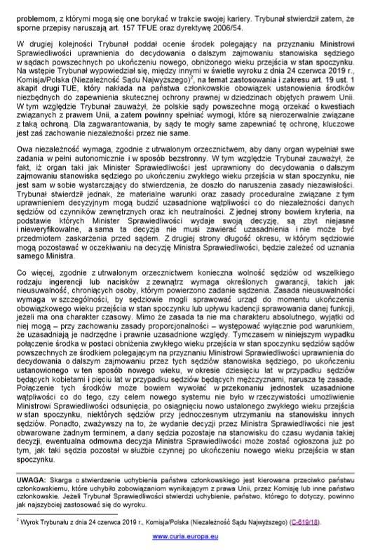Uzasadnienie wyroku, str. 2 /Materiały prasowe