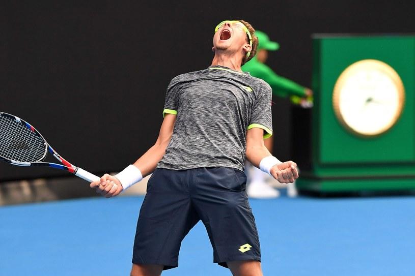 Uzbek Denis Istomin sprawcą megasensacji w drugiej rundzie Australian Open /PAP/EPA /PAP/EPA