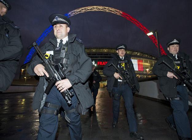 Uzbrojeni funkcjonariusze w okolicy stadionu Wembley /Ben Cawthra/REX Shutterstock /East News