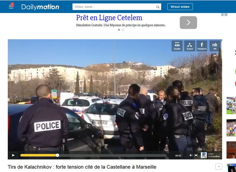 Uzbrojeni w broń automatyczną napastnicy zaatakowali policję /dailymotion.com /