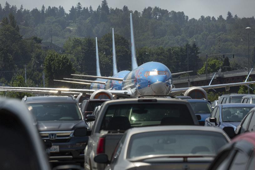 Uziemione Boeingi na lotnisku w Seattle /AFP