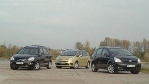 Używane: Kia Carens, Citroen Grand C4 Picasso, Toyota Corolla Verso