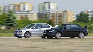 Używane: Mitsubishi Lancer Evo IX, Subaru Impreza STI