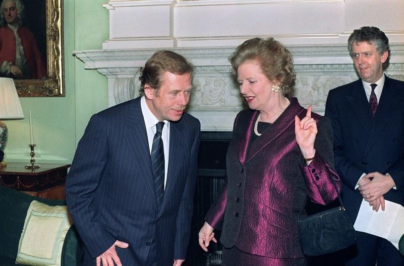 Vaclav Havel i Margaret Thatcher /AFP