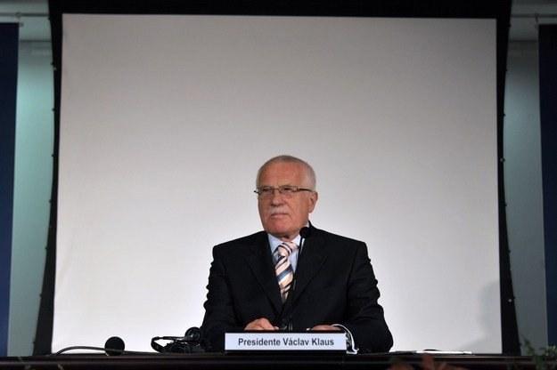 Vaclav Klaus, prezydent Czech /AFP
