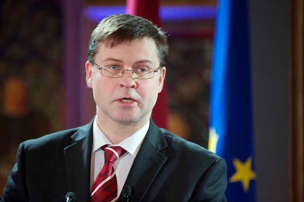 Valdis Dombrovskis, wiceprzewodniczący Komisji Europejskiej ds. euro /AFP