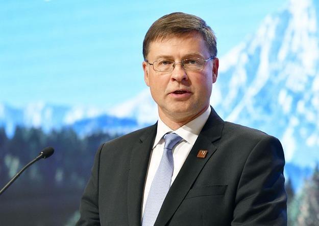 Valdis Dombrovskis, wiceprzewodniczący Komisji Europejskiej /AFP