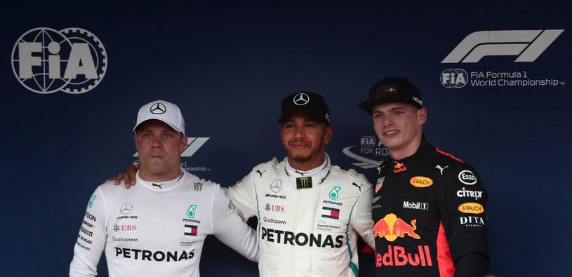 Valtteri Bottas, Lewis Hamilton i Max Verstappen /AFP
