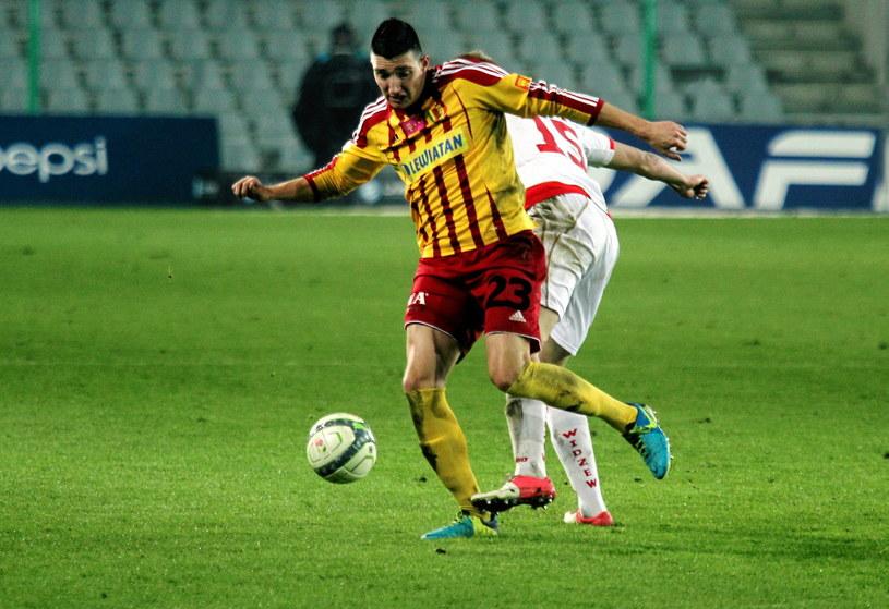 Vanja Marković zdobył gola dla Korony Kielce /Jaroslaw Kubalski  /
