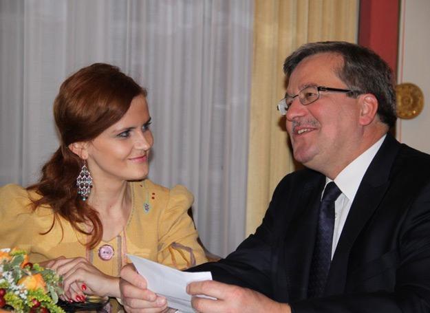 Vera Korthals podczas spotkania z prezydentem Bronisławem Komorowskim /