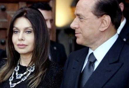 Veronica Lario i Silvio Berlusconi /AFP