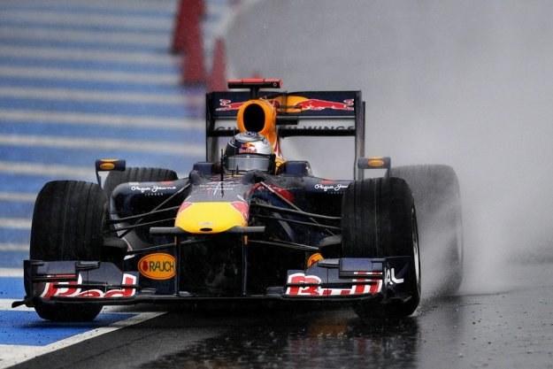 Vettel podczas testów /AFP