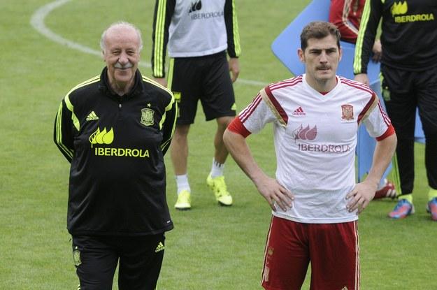 Vicente del Bosque i Iker Casillas / J.Casares    /PAP/EPA