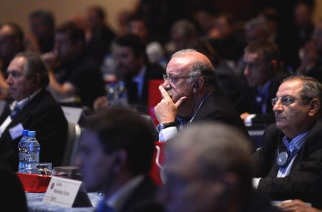 Vicente del Bosque uważnie prszysłuchiwał się dyskusjom /Bartłomiej Zborowski /PAP