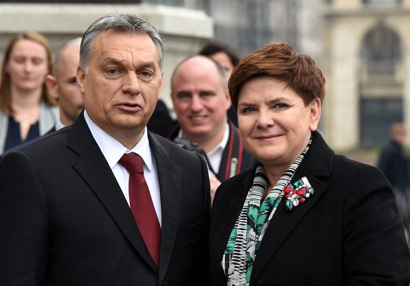 Victor Orban i Beata Szydło /Radek Pietruszka /PAP