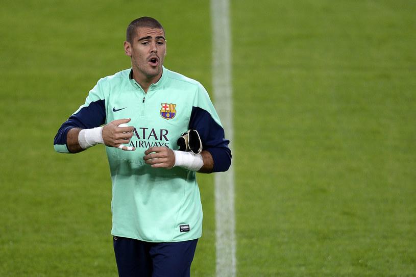 Victor Valdes w barwach Barcelony /LLUIS GENE /AFP