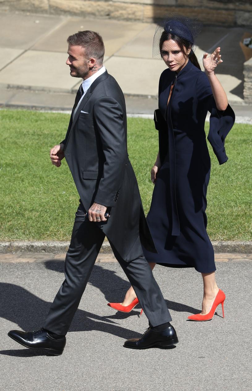 Victoria Beckham z Davidem na ślubie /East News