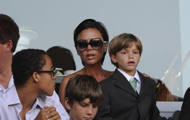 Victoria Beckham z synem Romeo, fot.Victor Decolongon  /Getty Images/Flash Press Media
