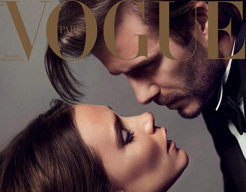 "Victoria i David Beckham na okładce francuskiego ""Vogue'a"" /East News"